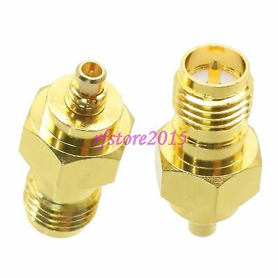 1pce Adapter Connector RP-SMA female plug to MMCX male plug for wireless