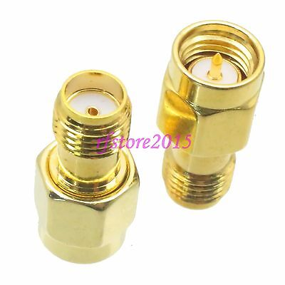 1pce Adapter Connector SMA male plug to SMA female jack for Wifi Antennas