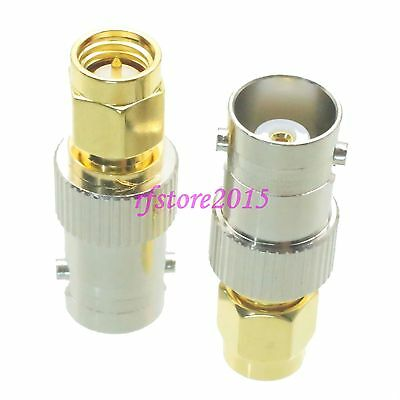 1pce Adapter Connector BNC female jack to SMA male plug for Radio Antenna