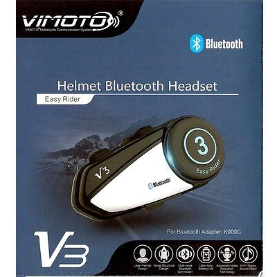 Vimoto V3 Multi-functional BT GPS Way Radio Motorcycle Helmet Bluetooth Headset