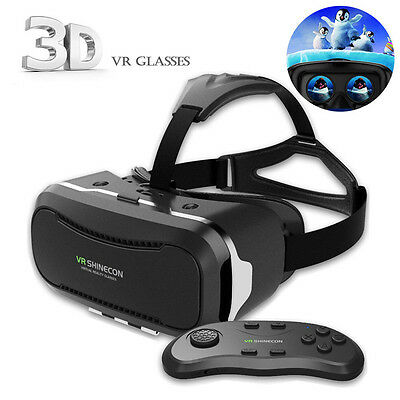 Shinecon VR 2.0 Virtual Reality Headset 3D Movies Games Video Glasses+Controller