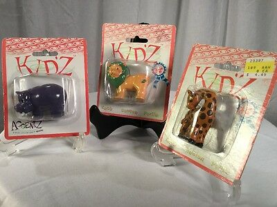 Lot of 3 Resin Animal Drawer Pulls/Knobs Hippo, Giraffe, Lion Kids
