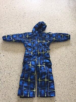 XTM kids snow suit frosty print blue size 6