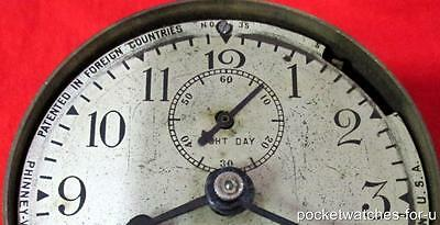 Phinney Walker Rim Wind 8 Day Automobile Model T Clock  For  Parts Or Repairs