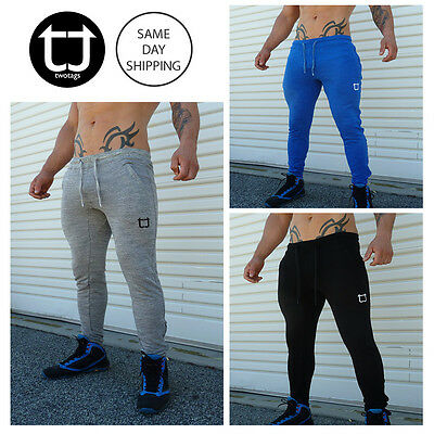 TWOTAGS Tapered Fit Pants Bottom Joggers Tracks GYM SHORTS SPORTS TRAINING MENS