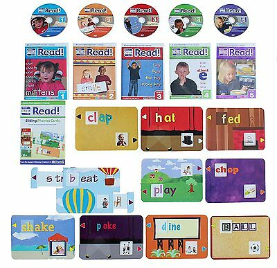 Your Child Can Read 5 DVDs & Sliding Phonics Cards. REDUCED TO CLEAR