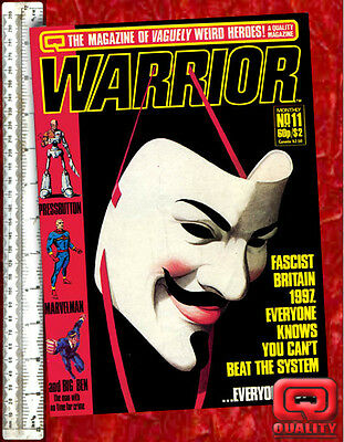 Warrior Magazine #11 with Marvelman and V for Vendetta by Alan Moore