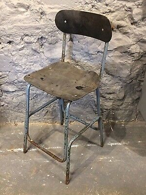 machinests stool chair industrial mid centure shabby chic