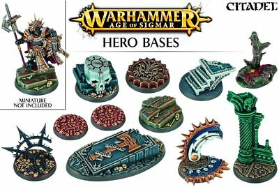 Age of Sigmar Hero Bases Round Bases (11 Bases) Games Workshop AoS 40k Base GW