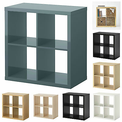 ikea kallax cube storage bookcase shelf book case 4 rectangle rack shelving unit. Black Bedroom Furniture Sets. Home Design Ideas