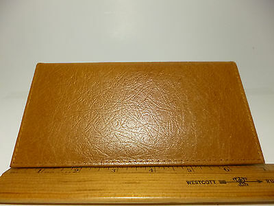Marshal Leather Checkbook Cover-1+Credit Card, Pen Holder-Ostrich Pattern#156 OS