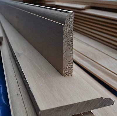 "Solid White Oak Skirting Board 1x5"" PAR to Ovolo 20x125mm"