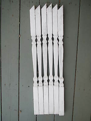 Antique Lot of 6 Craftsman Gothic Victorian  Baluster Spindles Porch Railing