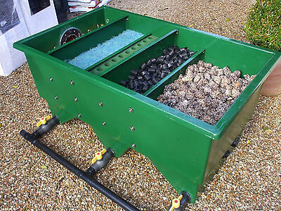 USED Kockney Koi 12000 Fibreglass Multibay Filter Fish Pond gravity fed.