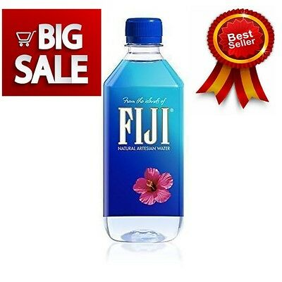 NEW FIJI NATURAL ARTESIAN WATER 16.9 OUNCE BOTTLES Pack of 24 FREE 2 DAY SHIP