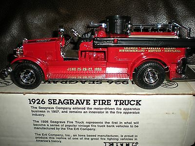 1926 Seagrave Firetruck Bank By Ertl Firefighter Collectible