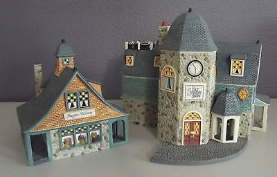 Department 56 Seasons Bay First Edition Set of 2 ~ BAY STREET SHOPS ~ #53301