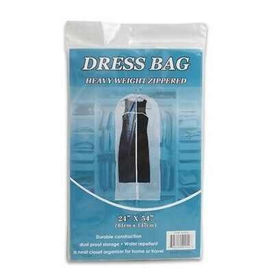Zip Up Vinyl Plastic Zipper Zippered Garment Dress Storage Bag Holder Protector