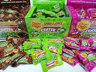 Sour Liquid Filled Chewing Gum CENTER SHOCK Apple Cola Strawberry CHUPA CHUPS