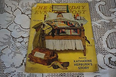 November 29 1941 Saturday Evening Post Norman Rockwell Willie Gillis Home Leave
