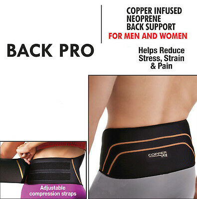 Lower Back Support Pain Relief Belt Adjustable Lumbar Sports Brace Strap Cushion