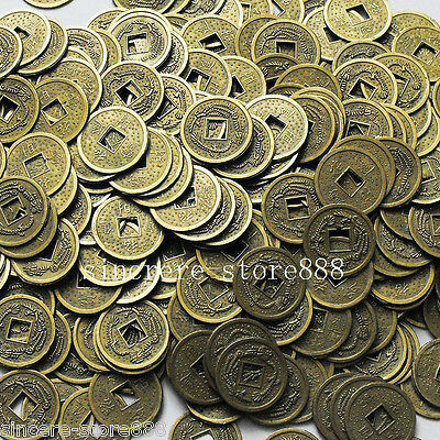 50PCS Lucky Dragon phoenix Round Coins Auspicious Ching Coin for Enhance Fortune