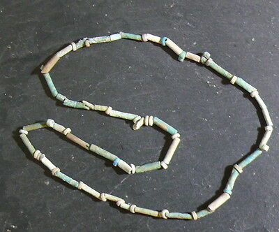 Archaeological AUTHENTIC!! Ancient Egypt Faience Necklace Beads 45 cm