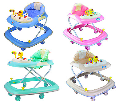 Baby kids Walker Adjustable 3 Height and Musical Activity Play Tray, Quality