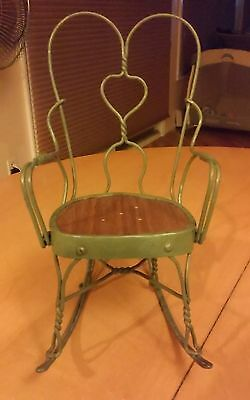 Doll Rocking Chair (Ice Cream Parlor Style)