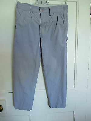 Boys vintage grey cotton Trousers  from  C & A 's  Age 6 -7   ~ Height 122 cm