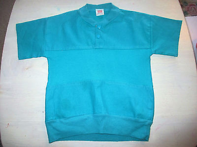 Girls Age 2-3 jade green  Vintage  Top Cotton blouse