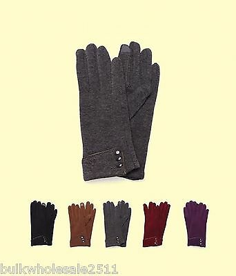 WOMEN'S FLEECE TOUCH GLOVES (Wholesale Lot of 24 Pairs)