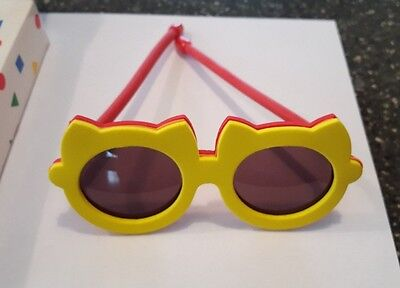 Avon Gift Collection Cat Sunglasses - Craft Foam Yellow Red - NIB