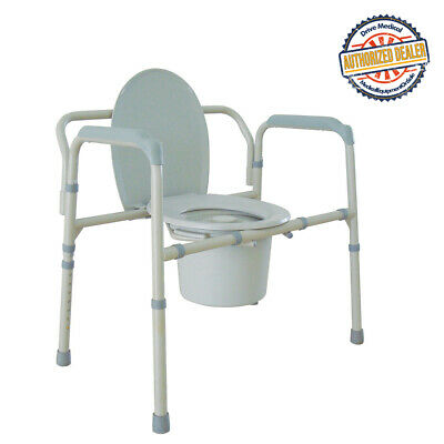 Drive 11117N-1 Heavy Duty Bariatric Folding Bedside Commode Chair