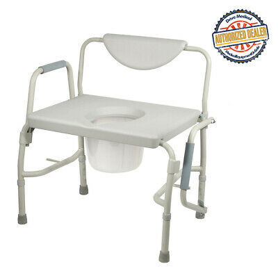 Drive 11135-1 Bariatric Drop Arm Bedside Commode Chair