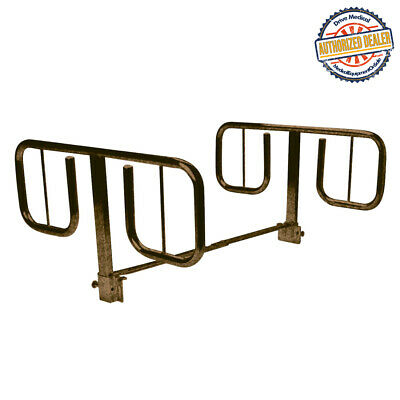 "Drive 15021BV Half Length ""T"" Style Bed Rails, 1 Pair"