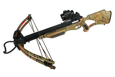 175 LBS Cobra Hunting Compound Crossbow W/ Amber Woodland Camo