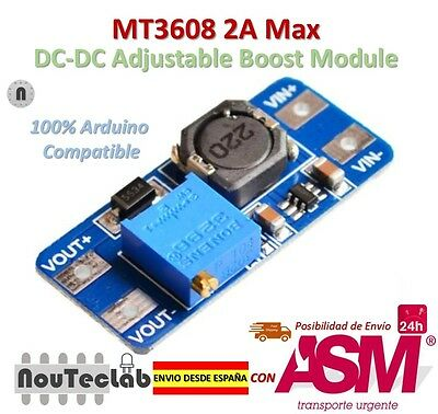 MT3608 2A Max DC-DC Step Up Power Module Booster Power Module for Arduino
