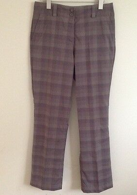 Women's Nike Golf Plaid Pants Size 6 Polyester Spandex Blend