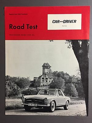 1964 Mercedes Benz 230 SL Showroom Sales Folder / Brochure RARE!! Awesome L@@K