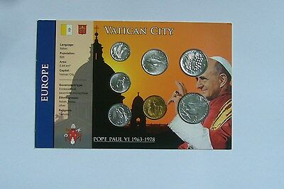Vatican City Coin Set 1977/XV, Paul VI , Unc Condition