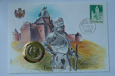 Luxembourg  10 Francs 1980, Stamp-Cover-Unc Condition