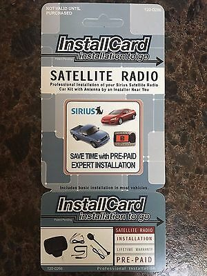 Sirius Satellite Radio Installation Card