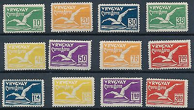 Uruguay 1928 Air Mail Scott C14-C25 Yvert 14-25 MM