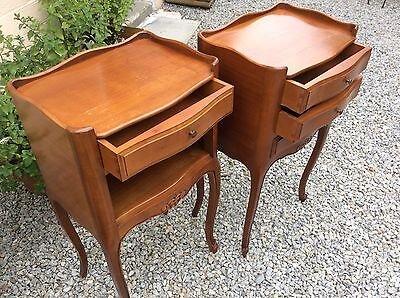 Antique Vintage French Louis XV Style Bedside Tables His & Hers Stunning