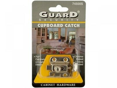 Chrome Plated Steel Cupboard Catch, Case of 24