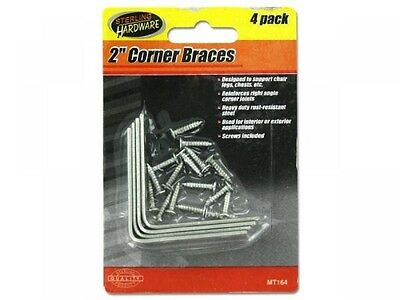 Corner Braces with Mounting Hardware, Case of 24
