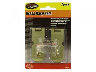 Brass Hasp Set, Case of 24