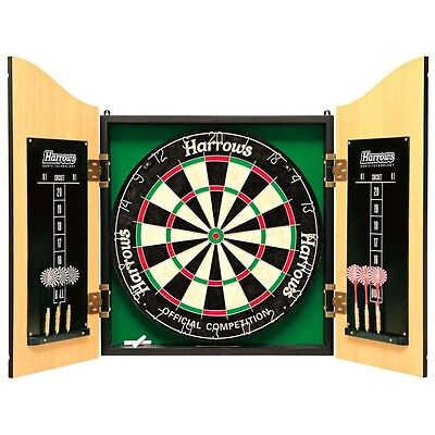 NEW Harrows Pro Choice Dartboard and Cabinet Set from Rebel Sport