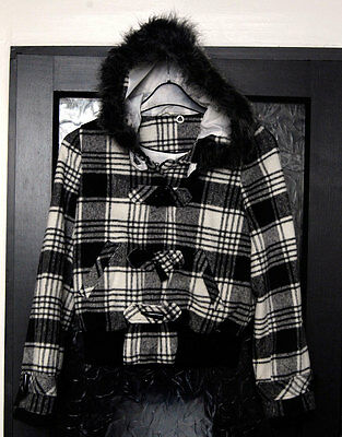 New without Tags Tammy Girl's Black/White Checked Jacket - Age 14-15 yrs